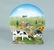 Cow Plate Water Globe