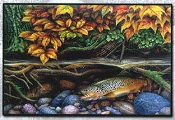Autumn Brown Trout Welcome Mat